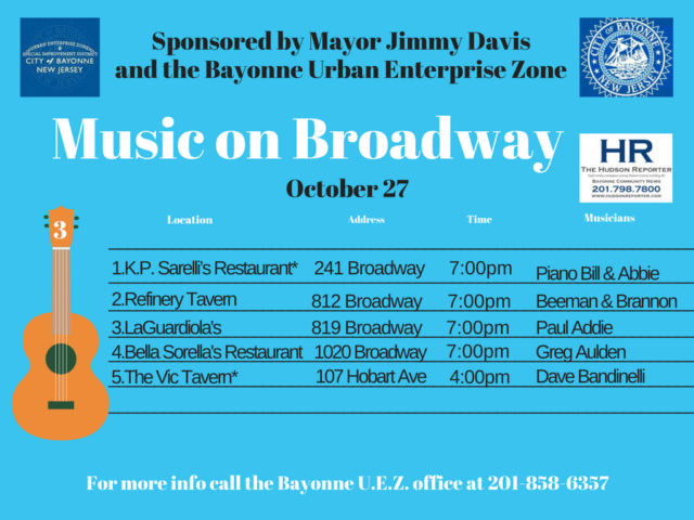 Music Broadway Bayonne OCT. 27 2017